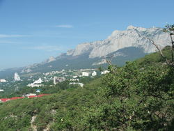 Вид Ай-Петри со старой Царской тропы * пейзаж * цифровая фотография