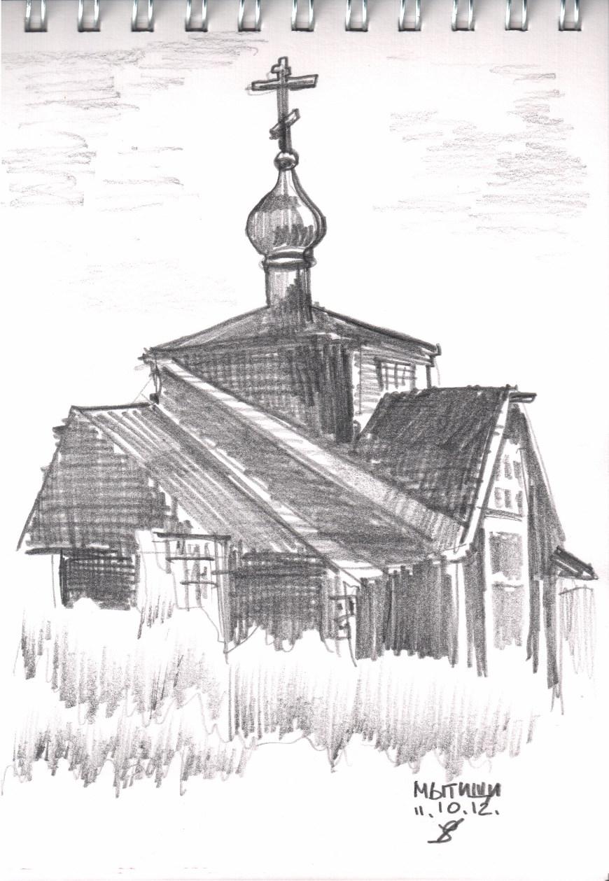 Деревянный храм, архитектура (рисунок): www.koreiz.ru/pages/page1036.html