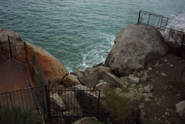 Берег моря в январе пейзаж цифровая