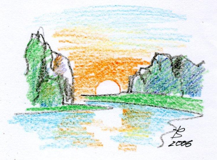 Рисунок о природе своими руками