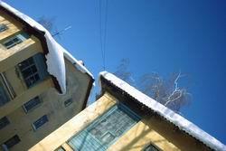 Снег на крышах * городской пейзаж * цифровая фотография