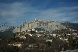 Вид Ай-Петри из Кореиза * пейзаж * цифровая фотография