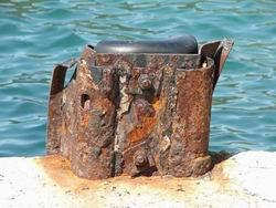 Ржавое железо на причале * пейзаж * цифровая фотография