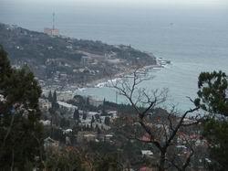 Вид на Симеиз с горы Кошка * пейзаж * цифровая фотография