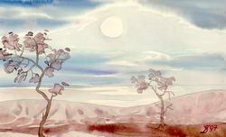 Копия маленькой акварели Волошина * пейзаж * акварель