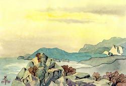 Вид на море (Таврида) * пейзаж * акварель